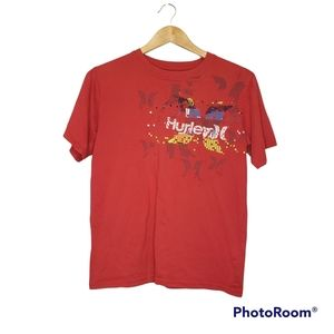 3 for $20 Boys Hurley Short Sleeve T-Shirt Large Red Graphic T